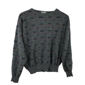 Lord & Taylor Mens Printed Crew Neck Sweater Sz M